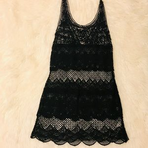 AE Lace Croquet Black Sun Dress XS/S